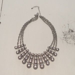 Jewelry - Silver 3 strand bib necklace